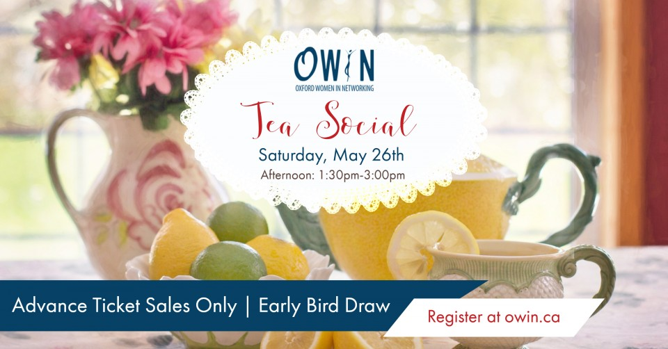OWIN Tea Social - May 26th, Afternoon