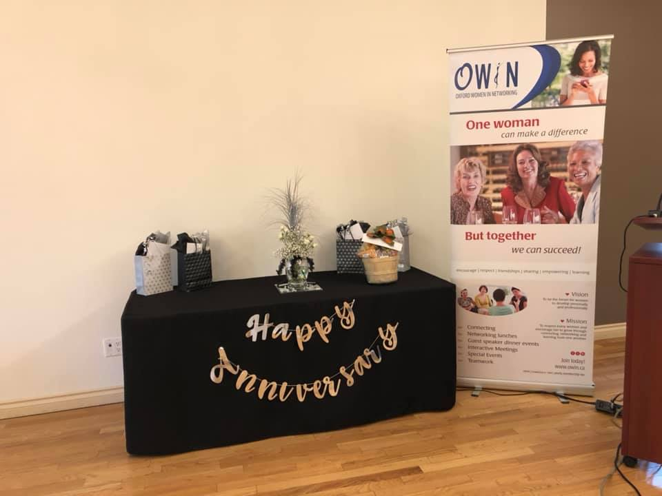 OWIN's 25th Anniversary - Door Prize Table
